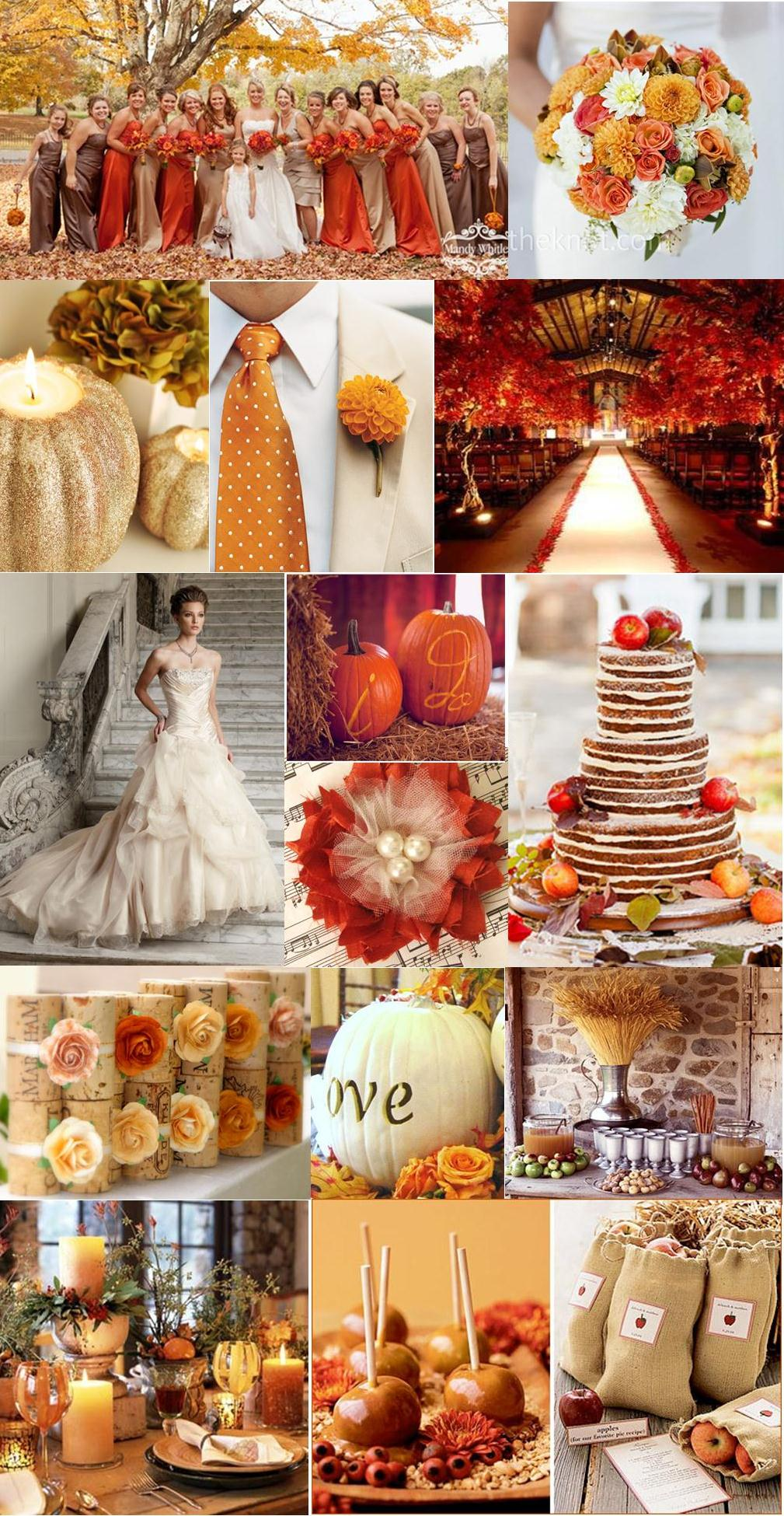 wedding fall decorations wedding wednesdays autumn chic thetwentysomethingblog 9450