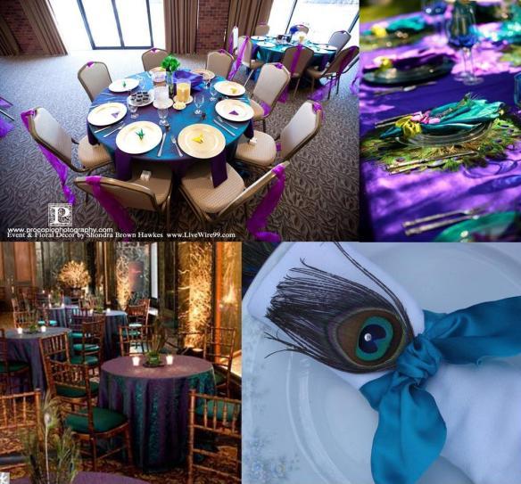 Peacock Wedding Decorations