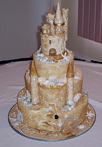 Sandcastle Wedding Cake Ideas