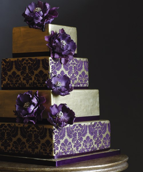 Purple Wedding Cake Ideas: Thetwentysomethingblog